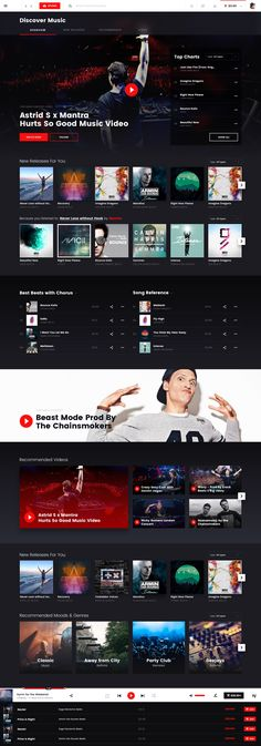 Online Music Marketplace - by Hologram Website Design Layout, Web Layout, Music Websites, Desktop Design, News Web Design, Web Themes, Ui Web, Screen Design, Website Design Inspiration
