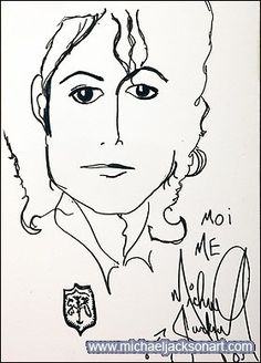 Michael Jackson's drawing himself 1985