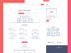 Homepage of Ticketing software by Vladimir P. - Dribbble