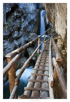 Walkway around the rock walls & waterfalls - Austria