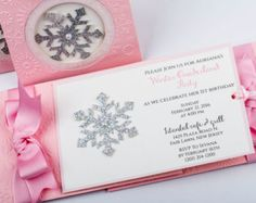 Winter Onederland First Birthday Invitations in by XOXOKristen
