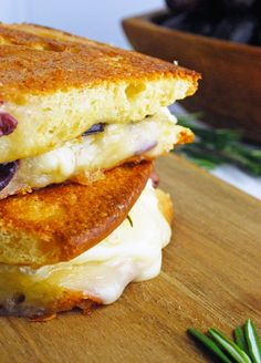 Grape Focaccia and Brie Grilled Cheese via theliveinkitchen.com #ad #WalmartProduce