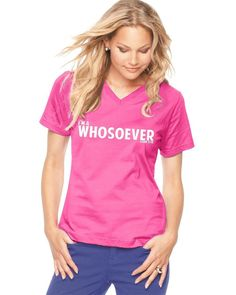 I'm a WHOSOEVER - Women's V-Neck T-Shirt - Hot Pink