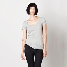 Sawyer Long Tee Women's Gray, $22, now featured on Fab.