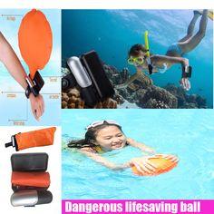 Muñequera Usable Proteja Muñeca guantes de Seguridad de Agua Bola de Flotador Para Salvar Vidas de Escape Auto Rescate Salvavidas Pulsera Globo para la Natación