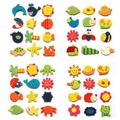 12pcs Baby Kids Wooden Cartoon Animal Fridge Magnet Educational Toys Xmas Gift China 12pcs/set ( Random Style)