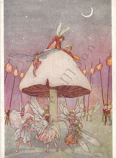 Vintage Fairy Postcard Fairy Revels Florence Mary Anderson Fine Artist England Fantasy via Etsy