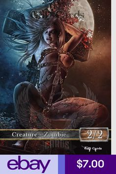 Buy and sell singles from GnD Cards in Europe's largest online marketplace for Magic: The Gathering. Fantasy Art Women, Fantasy Rpg, Mtg Altered Art, Mtg Art, Zombie 2, Art Costume, Magic The Gathering Cards, Thing 1, Magic Cards