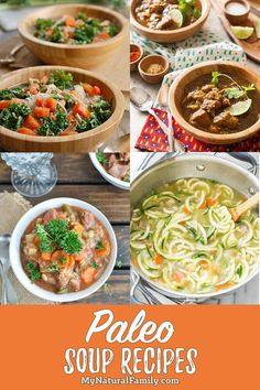 These Paleo soup recipes give me lots of good ideas of healthy soups and will make my Paleo meal plan even easier. These Paleo soup recipes give me lots of good ideas of healthy soups and will make my Paleo meal plan even easier. Easy Cauliflower Soup, Paleo Chicken Soup, Paleo Soup, Best Paleo Recipes, Soup Recipes, Great Recipes, Dinner Recipes, Paleo Meal Plan, Dinner Bowls