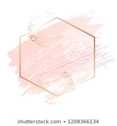 Similar Images, Stock Photos & Vectors of Abstract pink brush background with rectangle geometric frame rose gold color. Logo background for beauty and fashion - 1316150948 Art Rose, Social Media Art, Instagram Design, Logo Background, Pink Art, Instagram Highlight Icons, Brush Strokes, Framed Art, How To Draw Hands