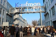 Kaufman Studios in Astoria... A new outdoor studio, which opened in Astoria last year, is marked by a massive gated entrance on 35th Street, complete with a working catw...