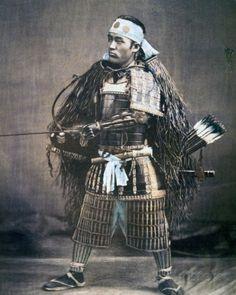 Japanese Samurai Warrior in Full Costume with Weapons, Photographic Print Samurai Weapons, Afro Samurai, Samurai Armor, Female Samurai, Japanese History, Japanese Culture, Japanese Art, Costume Armour, Japanese Warrior
