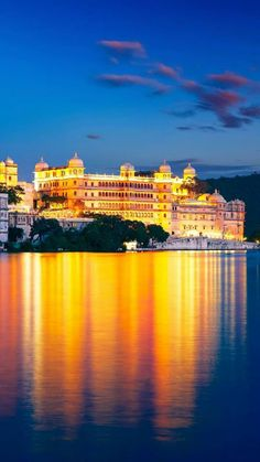 Udaipur India, City Lights, Architecture Design, Clouds, History, Places, Travel, Outdoor, Night