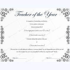Teacher of the year certificate sample certificate teacher of the year certificate sample certificate awardcertificate bestteacheraward bestaward excellentteaching pinterest certificate and teacher yadclub Gallery