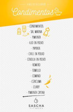 Lista de mercado fit: Condimentos - www.saschafitness.com