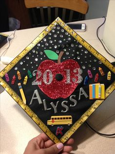 My graduation cap Teacher Graduation Cap, Graduation Cap Designs, Graduation Cap Decoration, Graduation 2016, Graduation Celebration, Graduation Photos, Education Major, Teacher Education, Education College