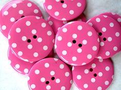 Polka dot buttons.