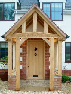 A great porch (or portico) sets the scene for the rest of the house. We select ten of our favourites Porch Uk, Porch Roof, House With Porch, House Front, Building A Porch, Building A House, Sas Entree, Stone Porches, Porch Canopy