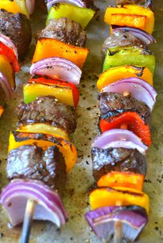 Steak Fajita Skewers with Cilantro Pesto
