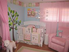 nursery design blue girl - Google Search