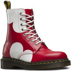 Dr. Martens Pascal Valentine Short Lace-Up Low Boot ($105) ❤ liked on Polyvore featuring shoes, boots, ankle booties, short lace up boots, red lace up boots, dr martens boots, red booties and lace up boots