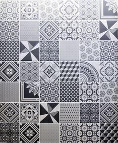 Ted Baker Decorative Grey 14.8x14.8cm wall tile by British Ceramic Tiles (UK). The Decorative Grey is a special range designed by Ted Baker exclusively for British Ceramic Tiles inspired by the Edwardian tiled pathways of London's townhouses. Fancy flourishes and bold geometric prints tied together with a tonal grey colourway makes the Decorative Grey wall tile a stylish choice for kitchen splashbacks.