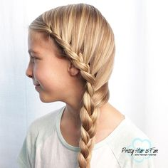 How to do a Side French Lace Braid Black Girl Short Hairstyles, Cute Girls Hairstyles, Princess Hairstyles, Braided Hairstyles Updo, Holiday Hairstyles, Pretty Hairstyles, Wedding Hairstyles, School Hairstyles, Updo Hairstyle