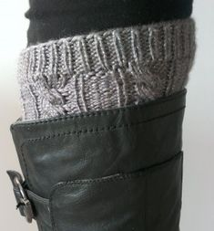 Boot Cuff & Leg Warmer. Free pattern available.