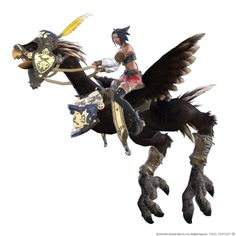 View an image titled 'Flying Black Chocobo Art' in our Final Fantasy XIV: Heavensward art gallery featuring official character designs, concept art, and promo pictures. Final Fantasy Xiv, Final Fantasy Artwork, Fantasy Armor, Character Art, Character Design, Character Ideas, Character Concept, Realm Reborn, Channel Art