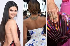 See the best tiny tattoos on Selena Gomez, Cara Delevingne, Jourdan Dunn, and more.