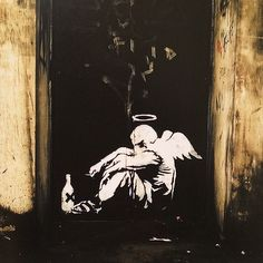 down time. Graffiti by Banksy Banksy, Art Photography, Graffiti, Public Art, Amazing Art, Painting, Illustration Art, Art, Street Art