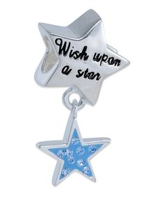 Take a look at this Blue Crystal & Stainless Steel Disney Princess 'Wish' Dangle Bead today!