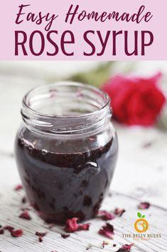 homemade rose syrup Stove Top Recipes, Jam Recipes, Sweet Recipes, Family Recipes, Brunch Recipes, Rose Petal Jam, Fresh Rose Petals, How To Make Rose, How To Make Homemade