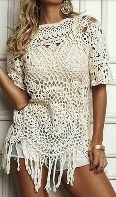 Luty Crochet Arts: crochet blouse with graphic