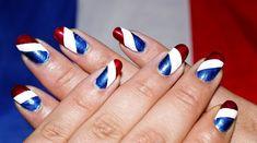 Nail Art France Euro 2016 Une manucure bleu blanc rouge nailart manucure  beaute ongles