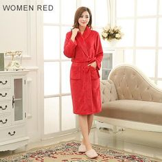 Women S Bathrobe Hooded Thick Warm Towel Fleece Sleepwear