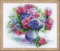 """Gallery.ru / Ganhik - Альбом """"***"""" Embroidery Patterns Free, Embroidery Kits, Cross Stitch Embroidery, Cross Stitch Designs, Cross Stitch Patterns, Craft Packaging, Hydrangea Flower, Counted Cross Stitch Kits, Cross Stitch Flowers"""