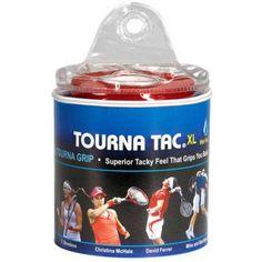Tourna Tourna-Tac XL Tennis Racket Overgrip, 30 Pack Travel Pouch, Black