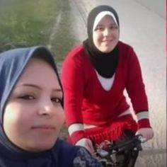 Amna Suleiman, who is leading a group of women who cycle in public in Gaza, challenging the unwritten ban on women cycling after puberty.