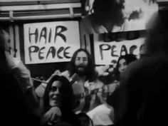 Give Peace A Chance: the first solo single issued by Lennon, released when he was still a member of the Beatles, and became an anthem of the American anti-war movement during the 1970s (HP)