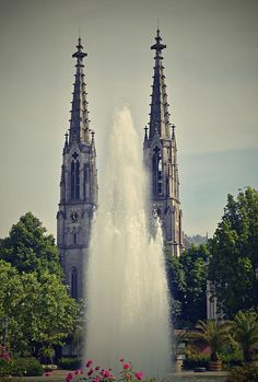 #Fountain at Evangelical Church square. #Huntingfountains in Baden-Baden. Flickr - Photo Sharing!