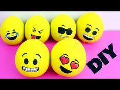 DIY Cheap Emoji Stress Relief Ball - Squishy - 5 minutes craft - YouTube