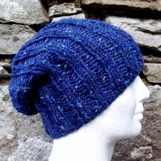 KNITTING PATTERN for SEATTLE Chunky Knit Ribbed Hat by RomeoRomeo, $5.90
