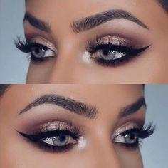• Pinterest ; @Itspernilla •.♡   Follow @TiandrasBlog for chic posts daily. Natural Eye Makeup, Blue Eye Makeup, Eye Makeup Tips, Smokey Eye Makeup, Makeup Hacks, Eyeshadow Makeup, Hair Makeup, Makeup Tutorials, Beauty Makeup