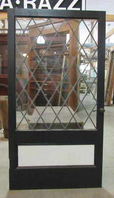 diamond pane leaded glass door MJT