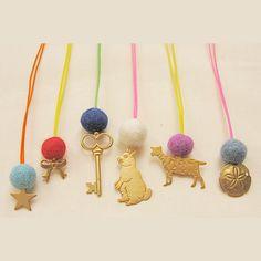[ATSUYO ET AKIKO] 'Fluo String' Charm Necklace - $16