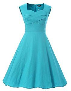 26e646f5f720 Vianla Women Capshoulder Retro 1950s Vintage Party Swing Dresses at Amazon  Women's Clothing store: