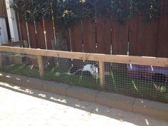 Diy konijnenhok ren gemaakt van trellis nachthok gemaakt in het speelhuisje dak voorzien van - Terras zeil ...
