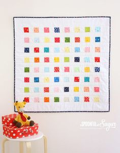 Crayon Box Baby Quilt Tutorial | This gender-neutral quilting tutorial is perfect for boys and girls!