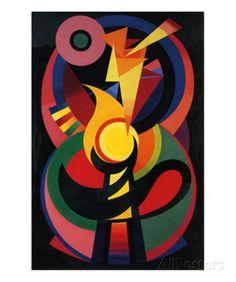 Symchromie en Noir, c.1939 Kunst van Auguste Herbin bij AllPosters.nl